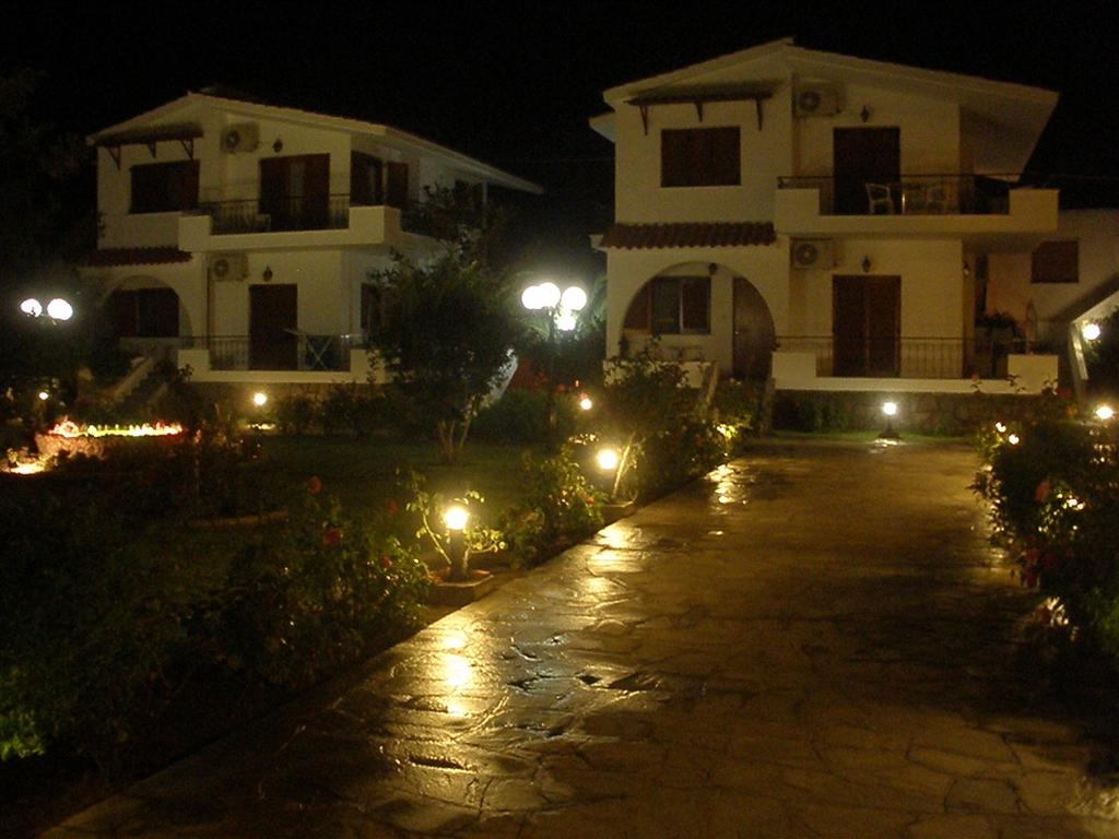 Night view of the Hotel garden with low light
