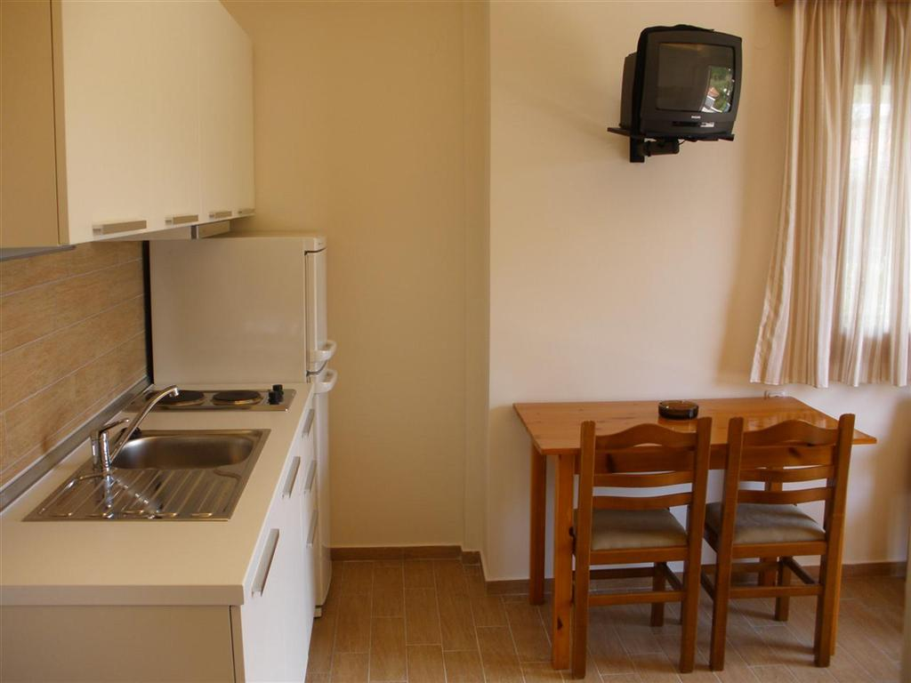 Fully equipped kitchen in an apartment